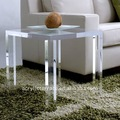 Frosted Acrylic sofa side table