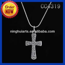 Voice Recorder Necklace Sideways Cross Necklace