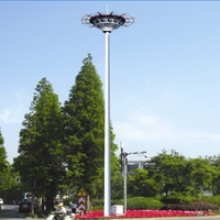 China supplier hot seller Hot dip galvanized LED lamp with high mast flood lighting pole for street light