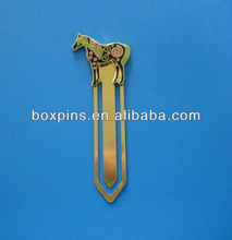 colorful custom horse metal bookmark