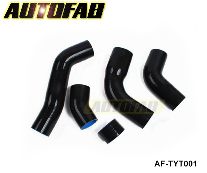 AUTOFAB - Intercooler hoses for Toyota Supra JZA80 VVTi 3.0 Twin Turbo, 2JZ-GTE Motor, 96-on (5pcs) AF-TYT001