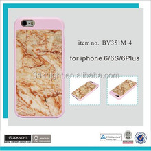 2016 New Arrive High Quality Slim Thin Hard PC Crystal Marble Phone Case for iPhone 6 6S Plus