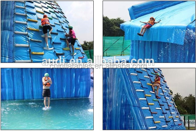 Outdoor inflatable water climbing facilities/ water park