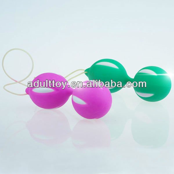 Silicone ben wa balls for vaginal relaxation, vaginal balls in sex product