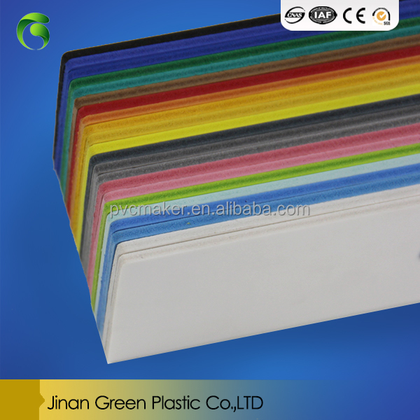 hot sale PVC foam board for album digital plastic sheet Thickness 3mm5mm10mm size 1220*2440 White color Density 0.5