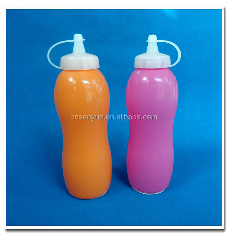 Ningbo supplier portable 300ml plastic ketchup and mustard bottles