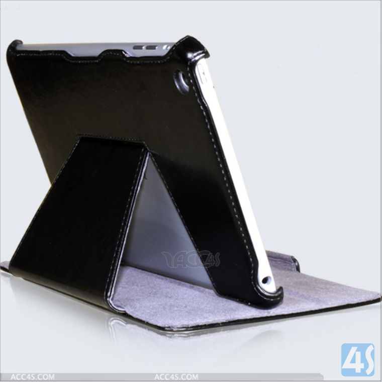 Alibaba hot selling folio slim fit pu leather case with stand for Apple iPad mini 2 Retina A P-iPDMINICASE140