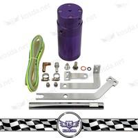 Car Universal Small Oil Catch Tank,Purple Auto Oil Catch Can