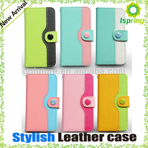 "2013 Stylish for iphone 5"" case leather"