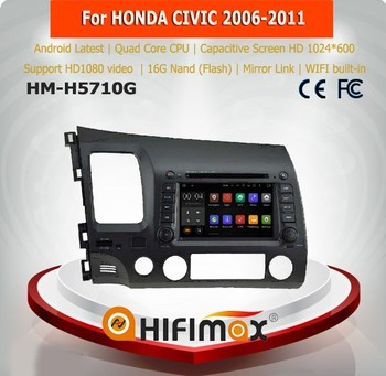 Hifimax Android 5.1 car dvd player for Honda CIVIC 2006-2011 with dvd gps navigation mp3 mp4 usb DAB car dvd player