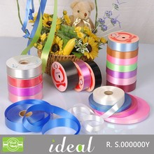 Manufacturer wholesale colorful luster solid polyester (pp) decorative plastic ribbon