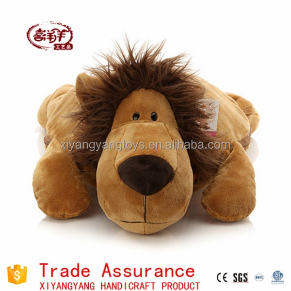 coral fleece air conditioning blanket plush toy doll lion toy