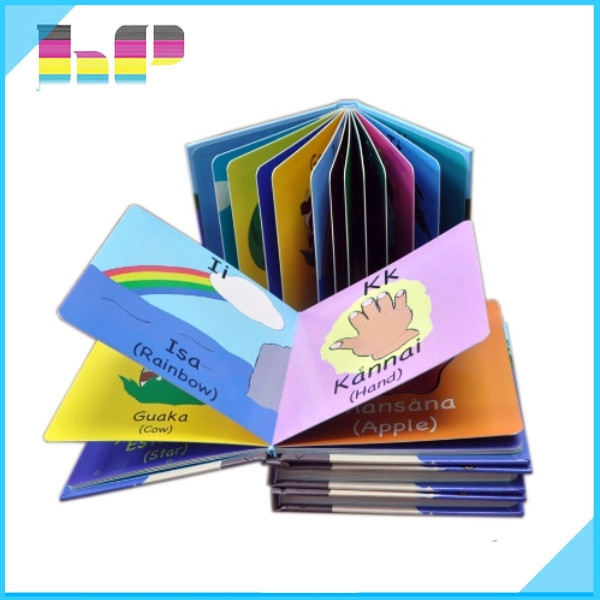 custom mini kids cardboard book printing
