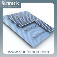 Home solar panel power pitched roof mounting system