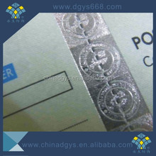 Gravure printing security watermark paper
