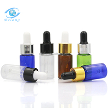 IBELONG hot sale blue pink amber clear green pet plastic cosmetic essential oil dropper bottle 10ml manufacture