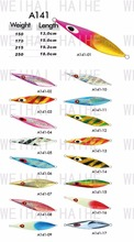 high quality popular slow pitch metal casting jigging spiral actionn fishing lure
