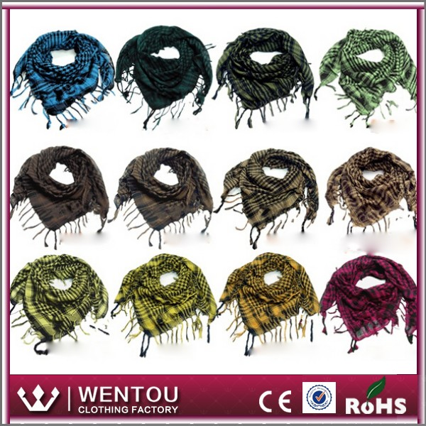 Fashionable hot selling plover design fringe military shemagh scarf