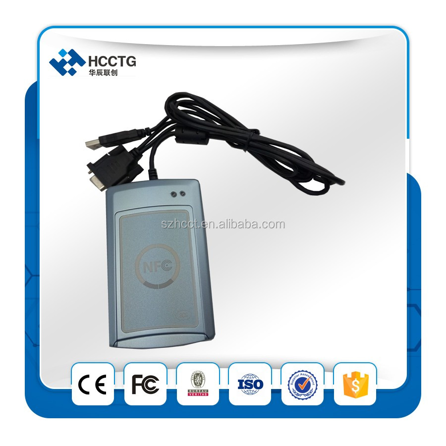 13.56 mhz rfid reader rs232 photo/portable nfc reader ACR122S For all four types of NFC ISO/IEC 18092 Tags