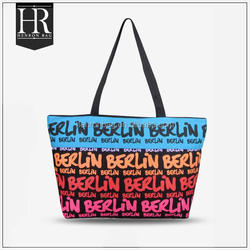 OEM ODM Reusable Canvas Tote Bag With Zipper canvas tote bag