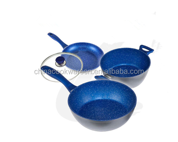 marble coating inner forged cookware