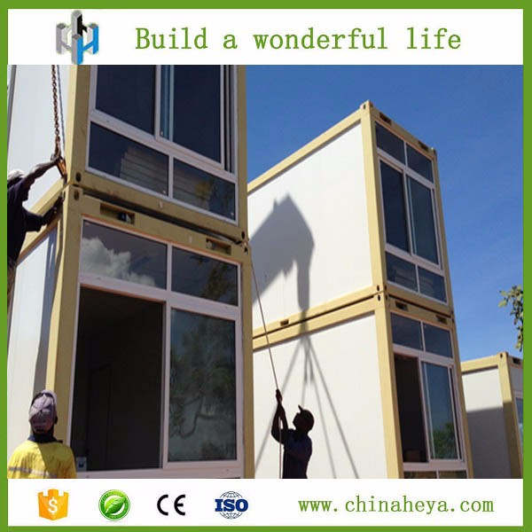 hot sale beautiful luxury 2 storey prefabric container house with 2 bedroom made by HEYA INT'L
