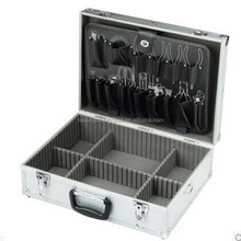professional right angle aluminum tool cases with tool board &division