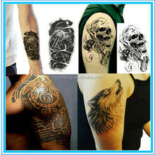 2016 Waterproof body fake Custom Temporary Tattoos For Men