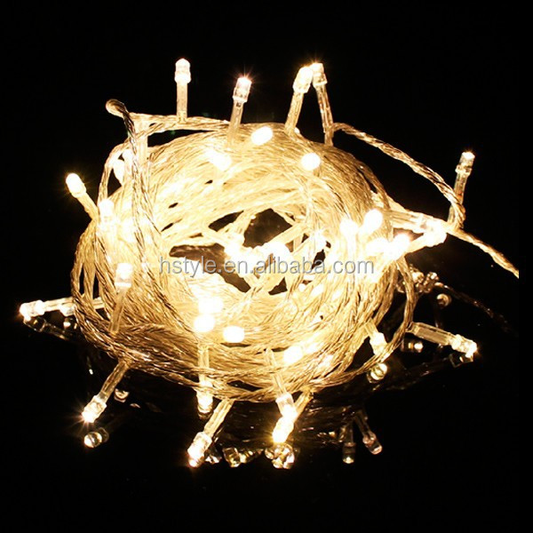 Battery Power Operated 1M 10 LED Xmas Wedding Party Mini String Fairy Light Warm White HNL004