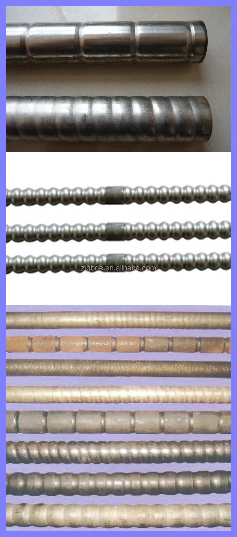 Extruded single metal corrugated tube in heat exchanger