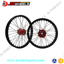 Motocross CRF 450 Wheel Set With Black Rim, Red Hub Silver Spoke And Black Nipples
