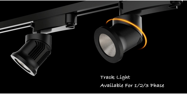 Industrial Zhongshan 20W 3 Phase Battery Powered Led Track Lighting