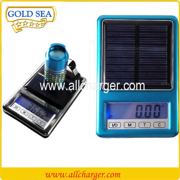 excel precision balance scale solar weighing sensitive scale USB charger