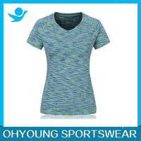 Ohyoung garment factory 100% Polyester Running Shirt model tops for women