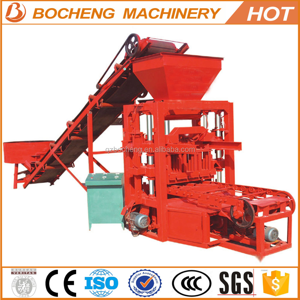 Best selling automatic QTJ-26 concrete block making machine price in india