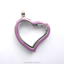 lovely pendant Silver heart shaped alloy glass floating crystal Locket