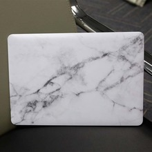 High Quality Handmade White Marble Texture Shock Proof Case Plastic Hard Shell Cover Solid Case For Apple Macbook Air Retina Pro