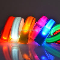 LED Sports WristBands Strap Glowing Armband Light Flashing Bracelet For Party Concert Sporting Accessorie