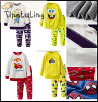 2015 baby winter clothing for boys minion pajamas, kids despicable me cartoon pijamas