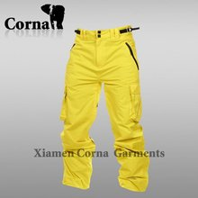 Breathable Fluorescent Quick Dry Hiking yellow ski pant