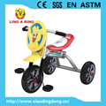 wholesale high quality simple children tricycle with mask and suspension and siliver wheels