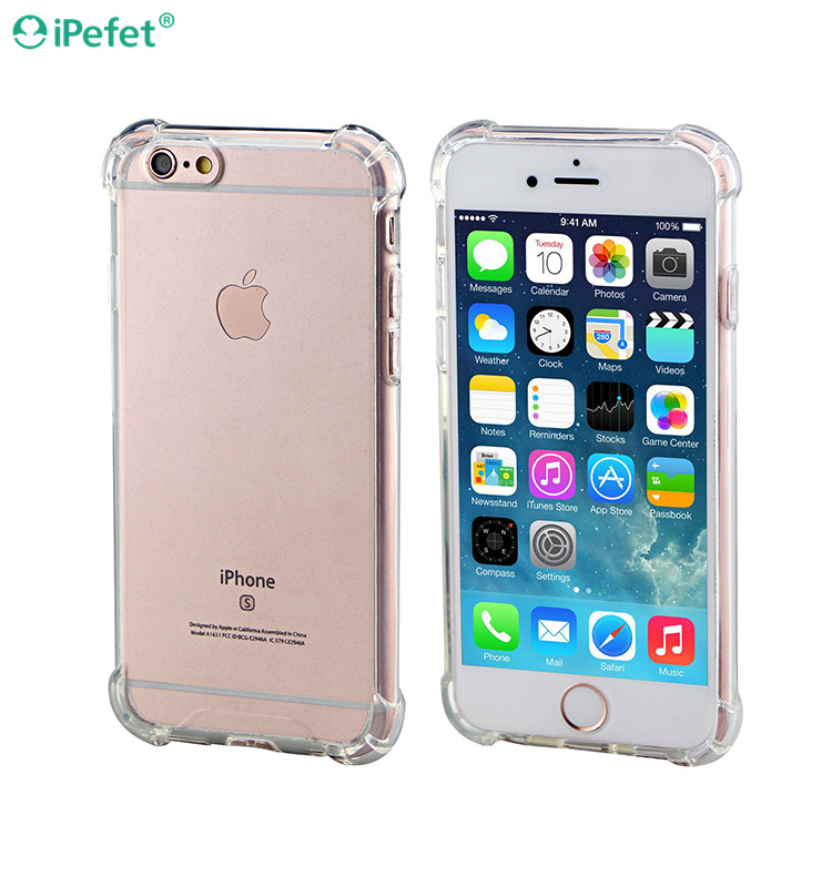 New Design Air Cushion Shock Resistant Clear TPU Phone Case For iPhone 6