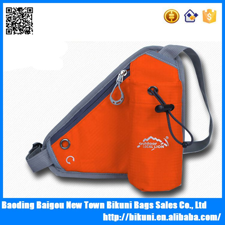 Fashion Mini Running Sports Mobile Phone Organizer Bag /Bicycling Gym Bag/Sports Waist Bag With Bottle