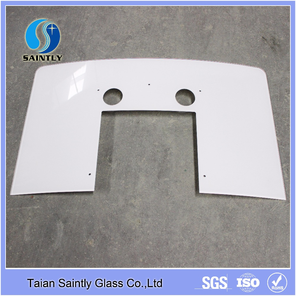 4mm curved safety extra white tempered glass
