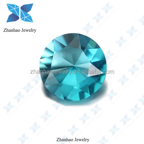 Facets Gems Factory Price Glass Gems Round Semi Precious Stone