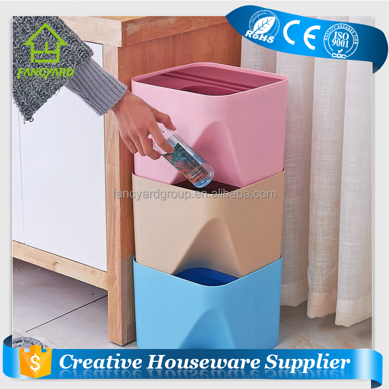FY1050 Square Dustbin/ Home House Office Sortable Indoor Plastic Dustbin