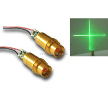 ce certification approval factory 3v 532nm 5mw D9mm glass lens cross mini laser green module for industry laser equipment