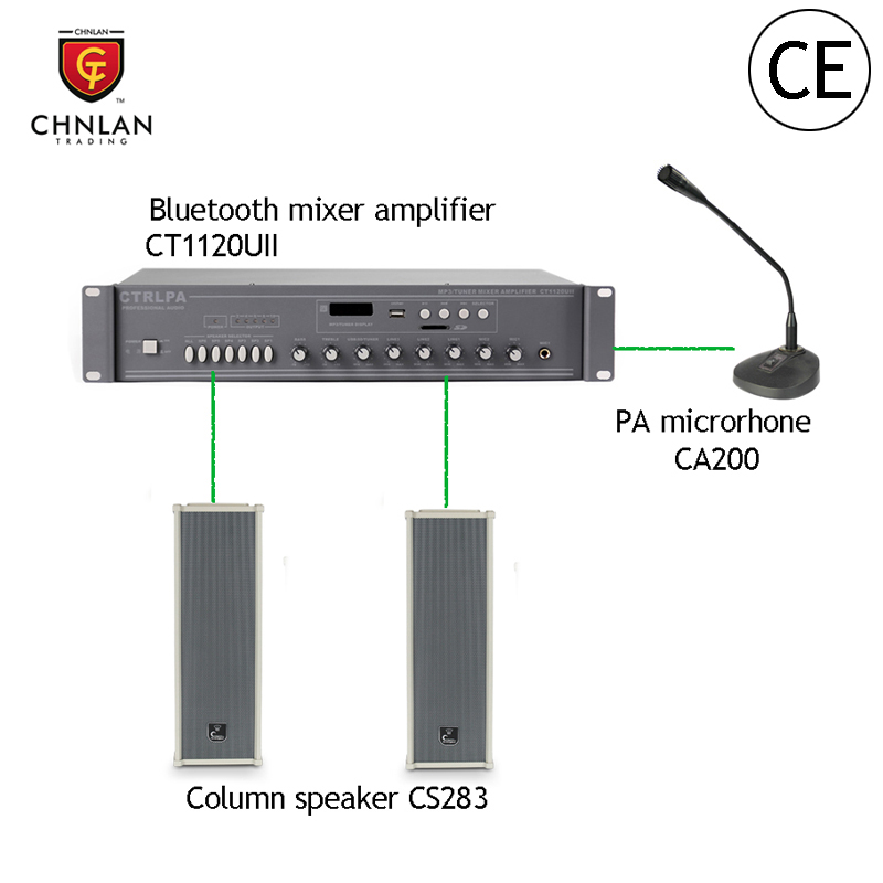 Chnlan Professional 6 zones bluetooth echo mixer amplifier for mosque sound system
