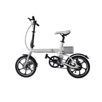 Lightweight and Aluminum Folding Ebike with Pedals, Power Assist, and 36V Lithium Ion Battery; Electric Bike with 16 inch Wheels