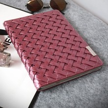 PU Stand Function Handmade Weave Tablet Leather Keyboard And Case 10.1 For Samsung Galaxy Note